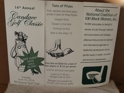 Candace Golf Classic Flyer - June 10 2014 - 400 X 300